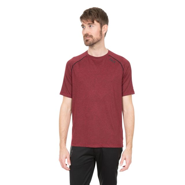 Deckard Men's DLX Quick Dry Active T-shirt in Red