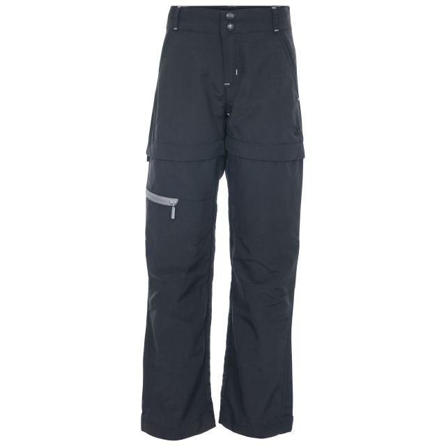 Defender Kids' Convertible Walking Trousers in Black