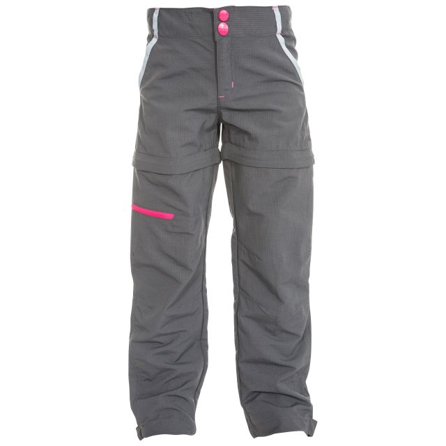 Defender Kids' Convertible Walking Trousers in Grey