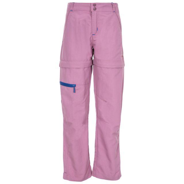 Defender Kids' Convertible Walking Trousers in Purple