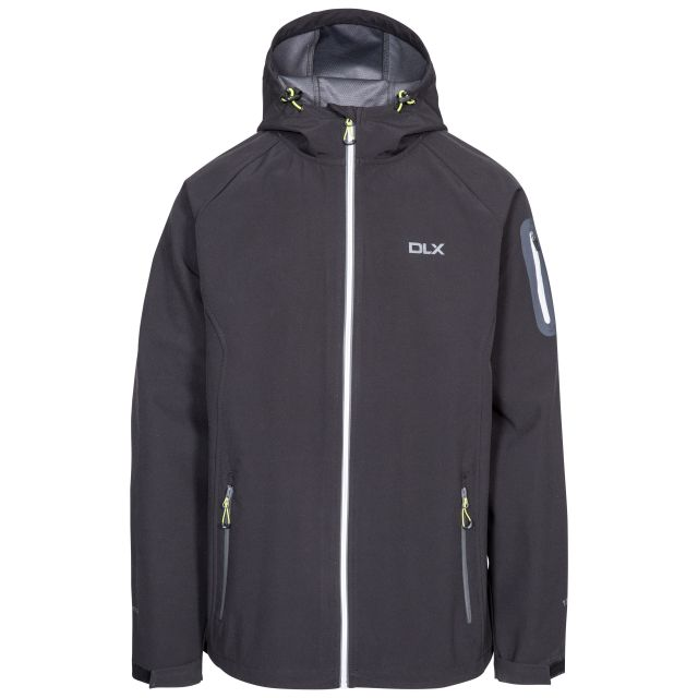 Delgado Men's DLX Waterproof Softshell Jacket in Black