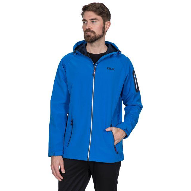 Delgado Men's DLX Waterproof Softshell Jacket in Blue