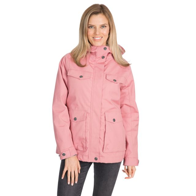Devoted Women's Fleece Lined Waterproof Jacket in Pink