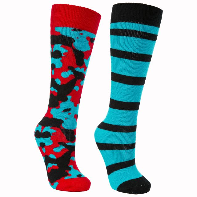Diddle Kids' Printed Tube Socks - 2 Pack in Turquoise