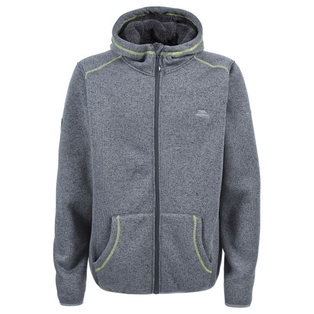 Dilan Men's Fleece Hoodie in Grey