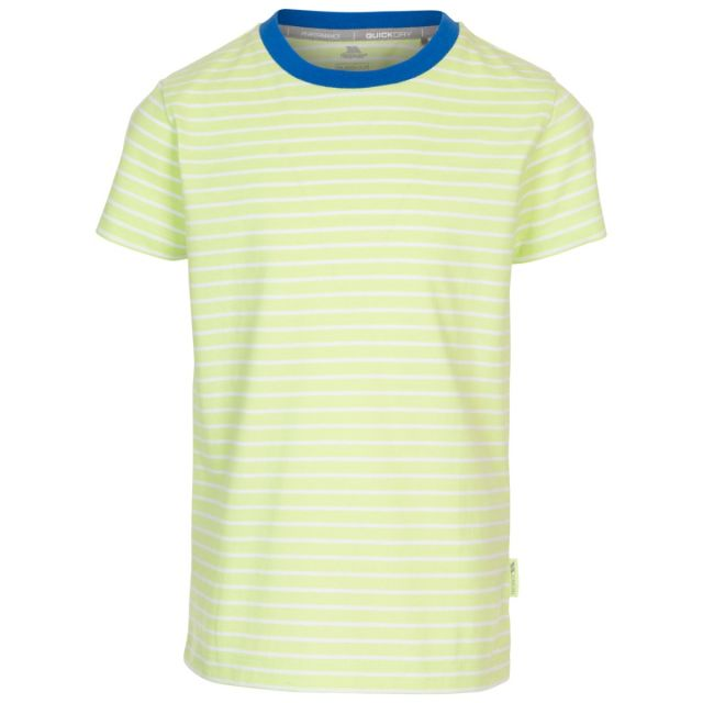 Direction Kids' Quick Dry T-Shirt in Green, Front view on mannequin