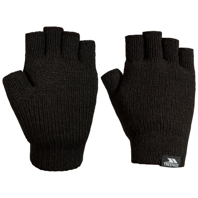 Dita Adults' Fingerless Gloves in Black