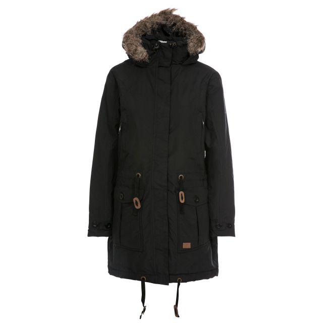 Trespass Womens Waterproof Jacket with Hood Dolly in Black