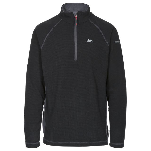 Donald II Adults' 1/2 Zip Fleece in Black
