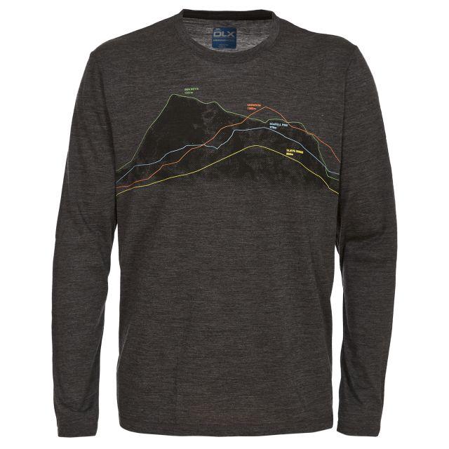 Draper Men's DLX Merino Wool Long Sleeve T-shirt in Grey