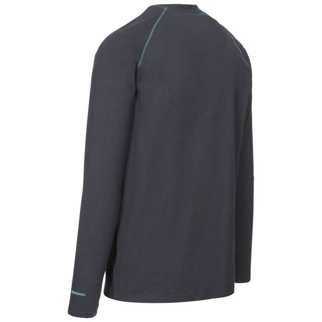 Drax Men's DLX Quick Dry Long Sleeve Active T-Shirt in Black