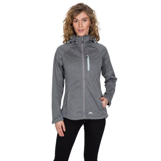 Drea Women's Hooded Softshell Jacket in Grey