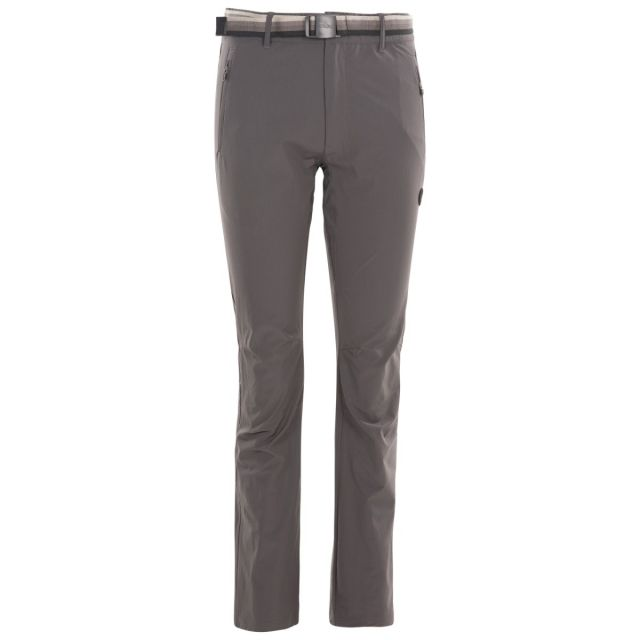 Drena Women's DLX Walking Trousers in Grey, Front view on mannequin