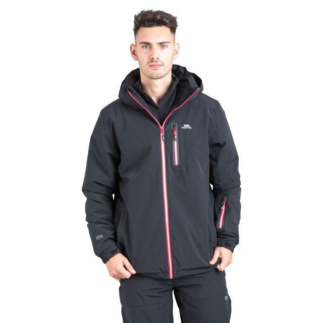 Duall Adults' Waterproof Ski Jacket in Black