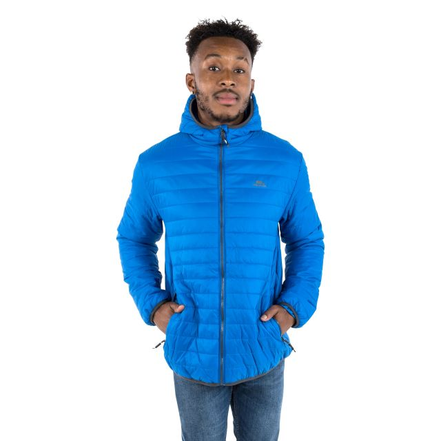 Dunbar Men's Hooded Lightweight Jacket in Blue