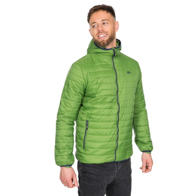 Dunbar Men's Hooded Lightweight Jacket in Green