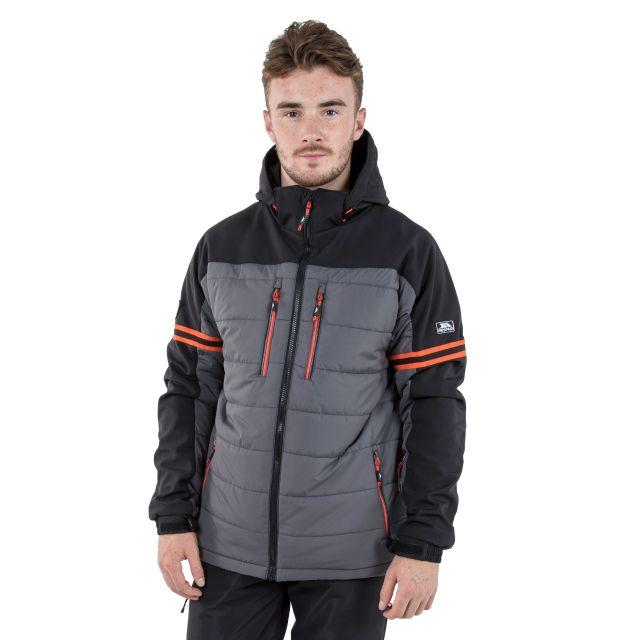 Dursey Men's Comfort Stretch Padded Ski Jacket in Grey