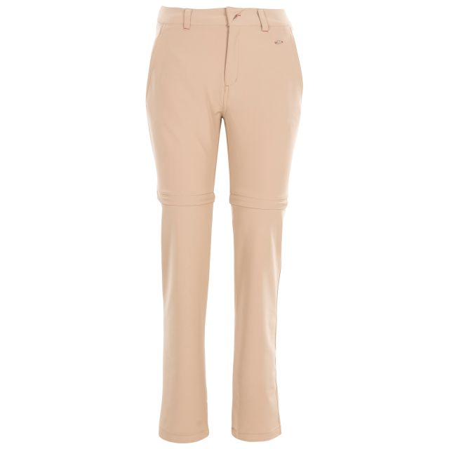 Eadie Women's Water Resistant Walking Trousers in Beige, Front view on mannequin