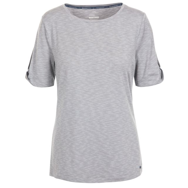 Eden Women's Quick Dry T-Shirt in Light Grey