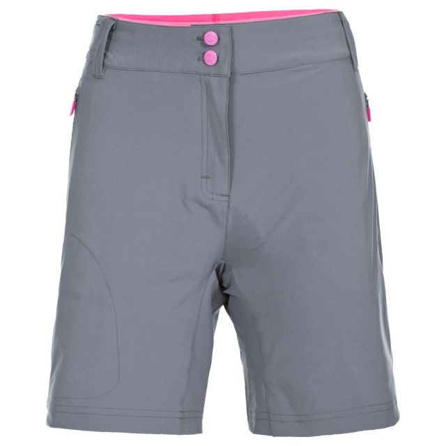 Edgar Women's Dual Layer Quick Dry Cycling Shorts in Grey