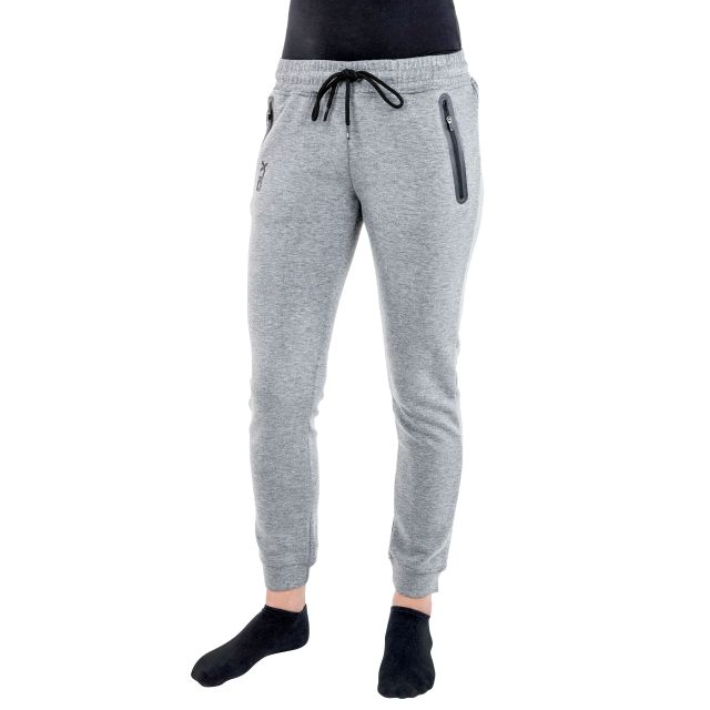 Elara Women's DLX Knitted Tracksuit Bottoms in Light Grey