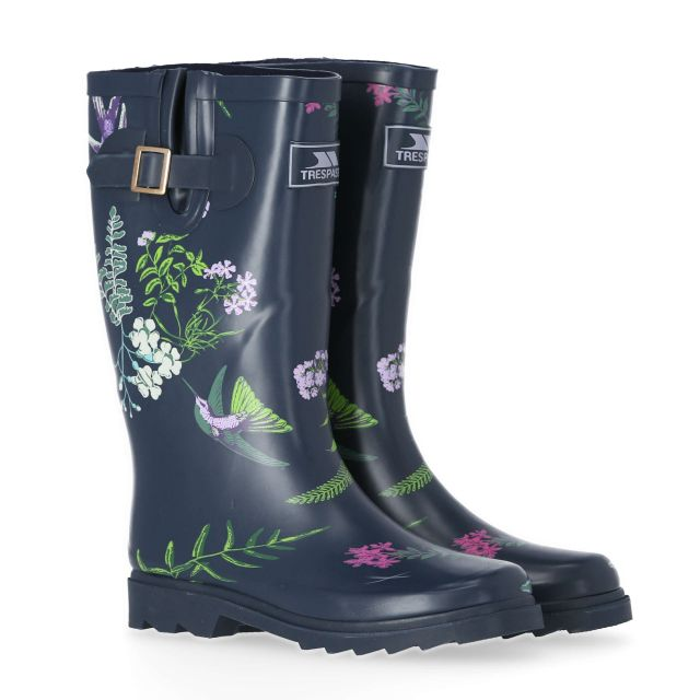 Elena Women's Printed Wellies in Navy