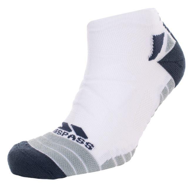 Trespass Unisex Trainer Socks Compression in White Elevation