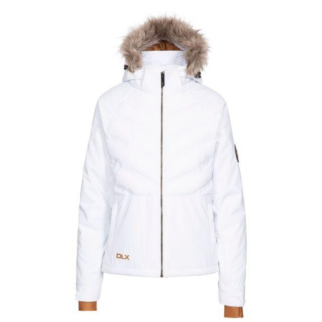 Elisabeth DLX Women's Ski Jacket with RECCO  in White