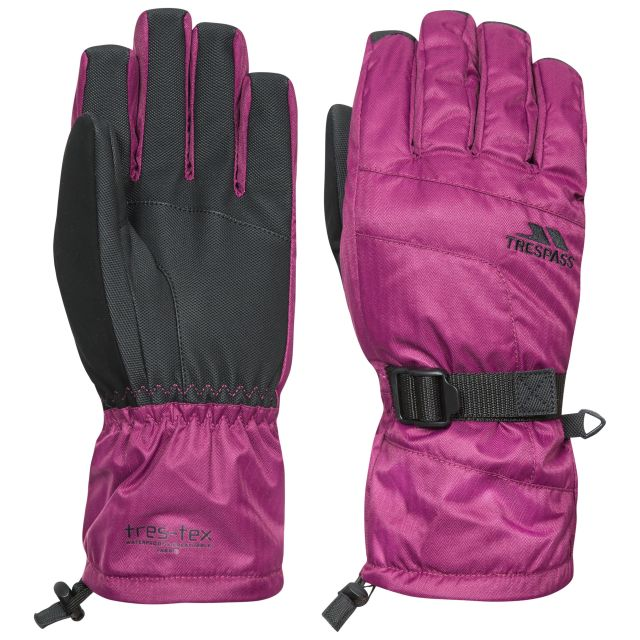 Embray Unisex Ski Gloves in Burgundy