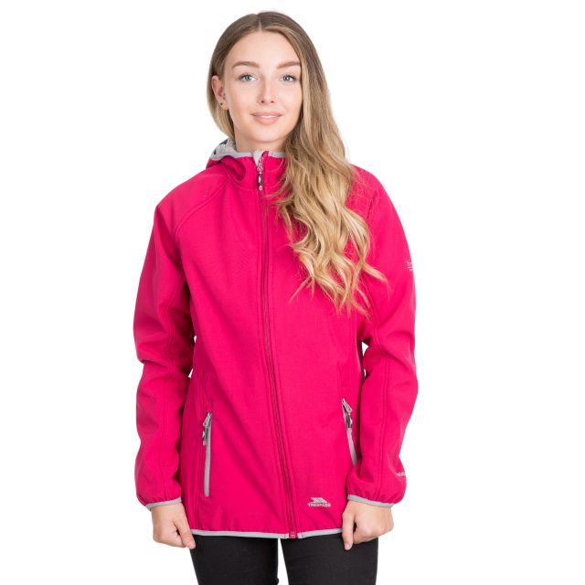 Emery Women's Hooded Softshell Jacket in Pink
