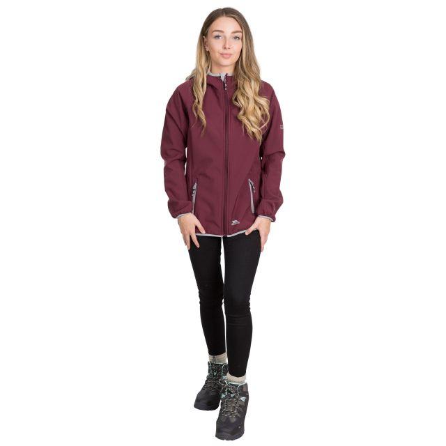 Trespass Womens Softshell with Hood Emery in Purple