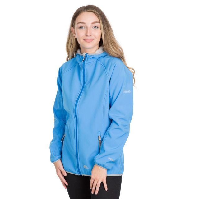 Trespass Womens Softshell with Hood Emery in Blue