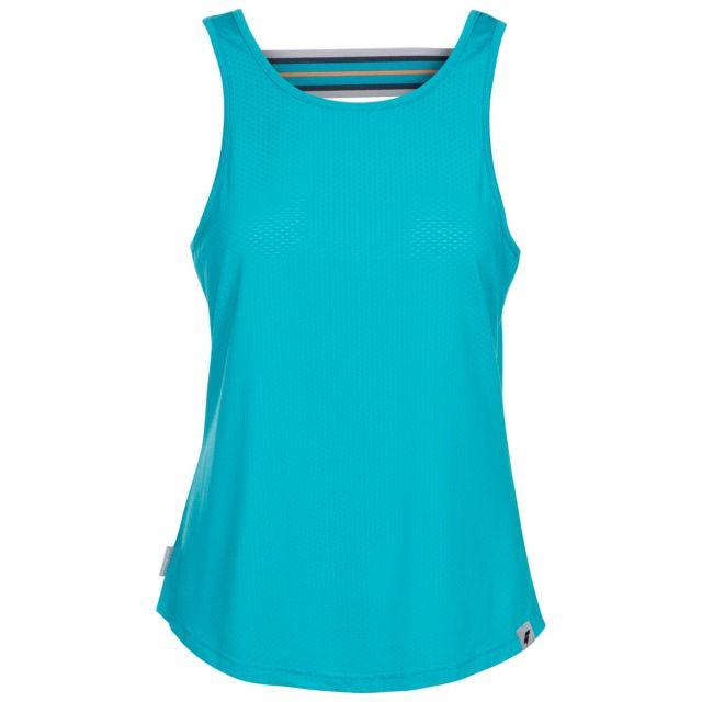 Trespass Women's Sleeveless Vest Top Emmalyn Blue, Front view on mannequin