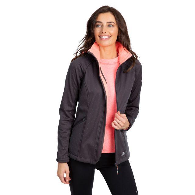 Trespass Womens Softshell Jacket with Hood Emulate Black