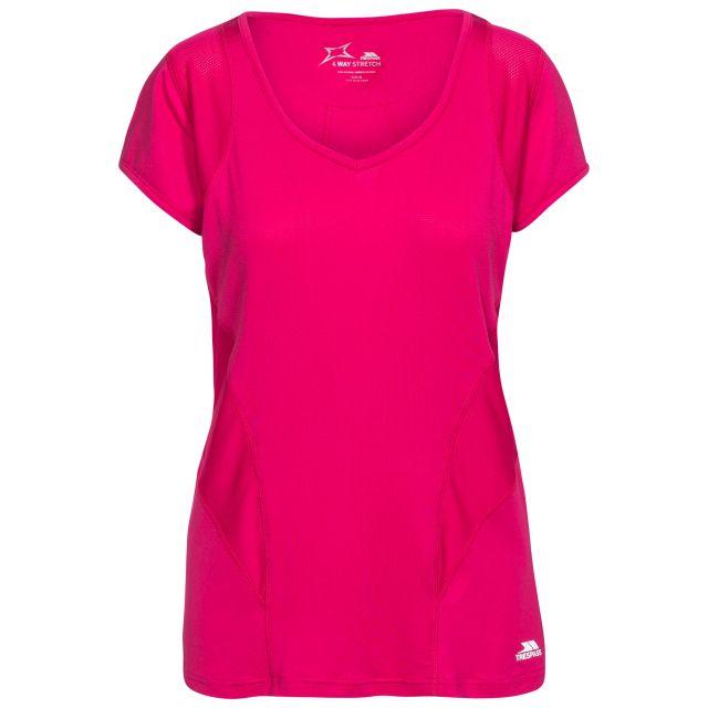 Erlin Women's V-Neck Active T-shirt in Pink