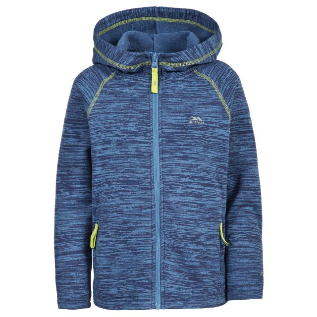 Ernie Boys Full Zip Fleece Hoodie in Blue