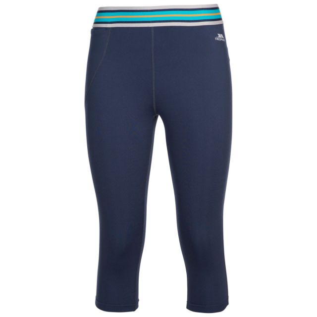 Trespass Women's 3/4 Length Trousers Esther Navy, Front view on mannequin