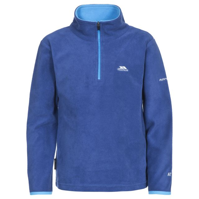 Etto Kids' Half Zip Fleece in Blue