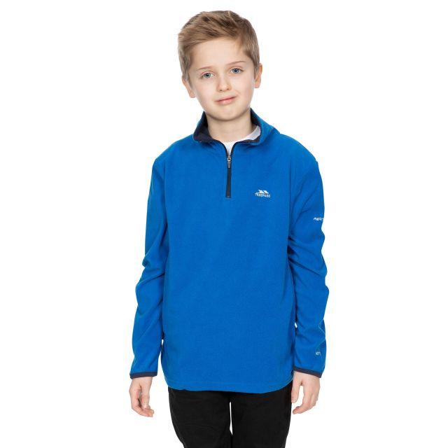 Trespass Kids Half Zip Fleece in Blue Etto