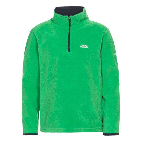 Etto Kids' Half Zip Fleece in Green