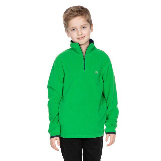 Trespass Kids Half Zip Fleece in Green Etto