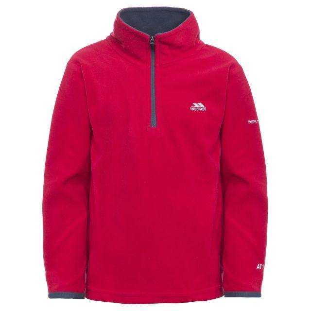 Etto Kids' Half Zip Fleece in Red