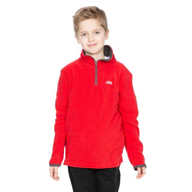 Trespass Kids Half Zip Fleece in Red Etto