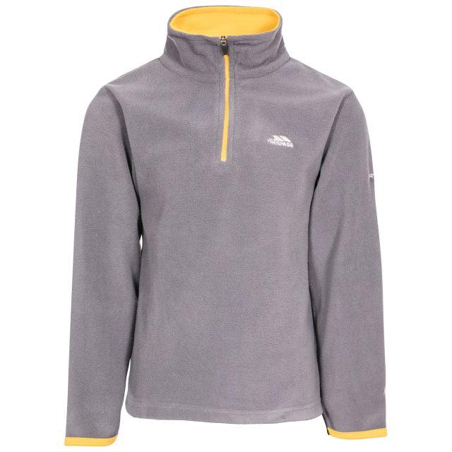 Etto Kids' Half Zip Fleece in Grey