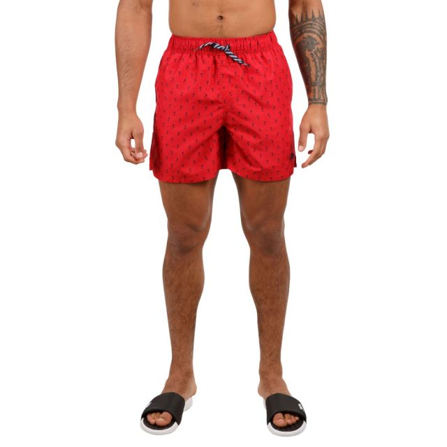 Trespass Men's Swimshorts Eugine Red Print