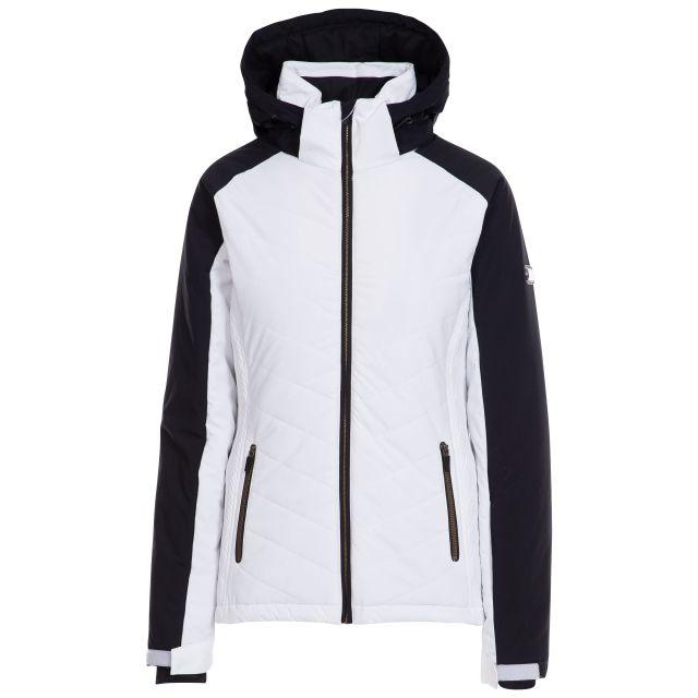 Eva Women's Lightly Padded Waterproof Ski Jacket in White