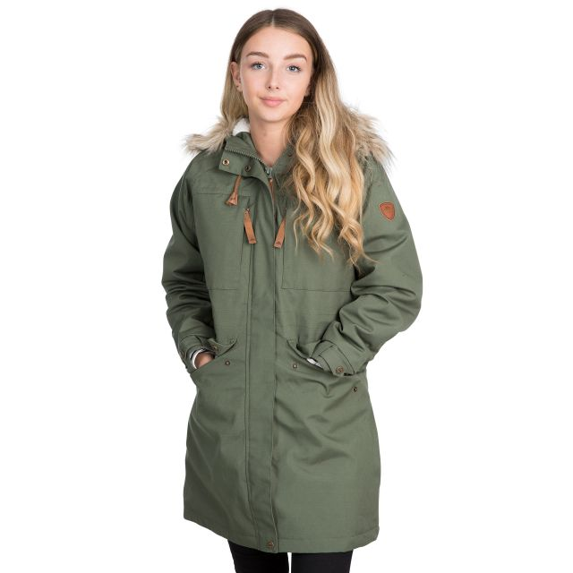 Faithful Women's Waterproof Parka Jacket in Green