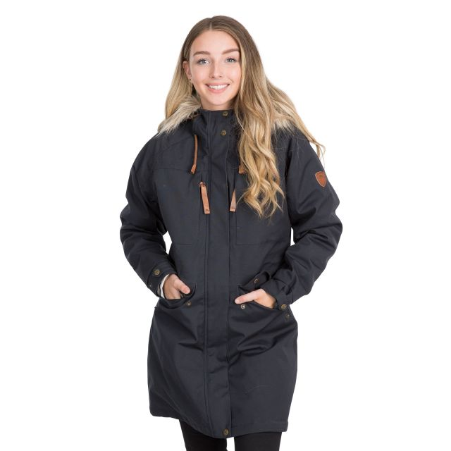 Faithful Women's Waterproof Parka Jacket in Grey