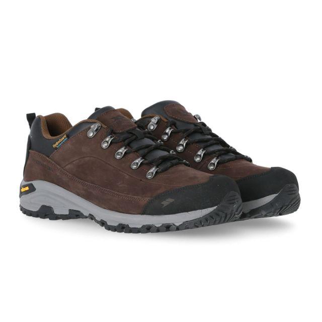 Falark Men's Vibram Walking Shoes in Brown