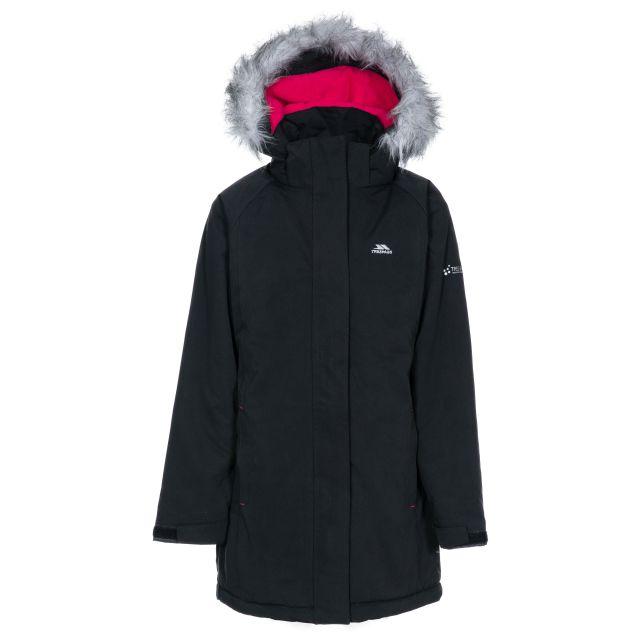 Fame Girls' Waterproof Parka Jacket in Black